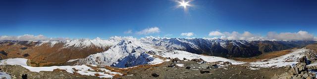 Panorama depuis le Pic de Chateau Renard (2990m)