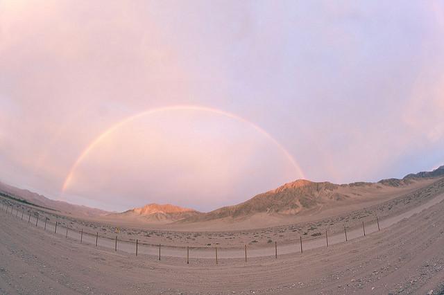 L'arc en ciel du désert