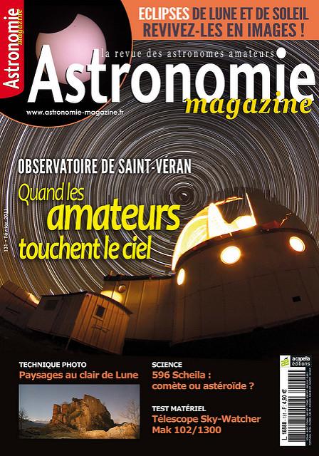 En couverture d'Astronomie Magazine
