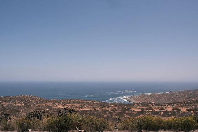 Le désert jusqu'au Pacifique